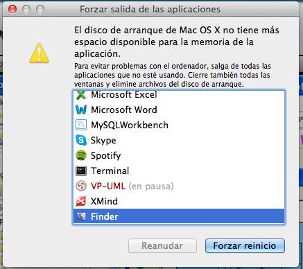 OS X disco lleno